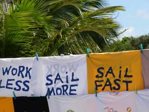 Tee shirts express the prevailing sentiments in St. Vincent