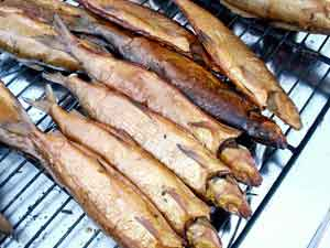 Smoked herring, a staple in Finland