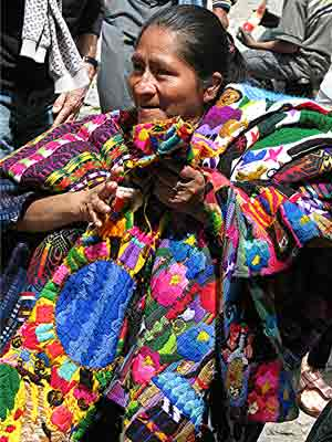 A vendor in the market at Santiago, Guatemala