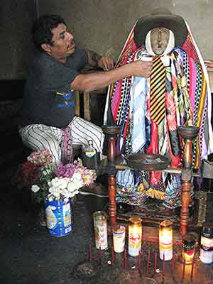 Maximon, a mysterious figure worshipped by the Mayans