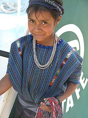 A girl in Palopo, Guatemala