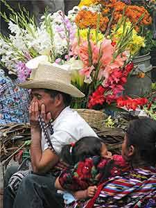 The flower market in Chichi