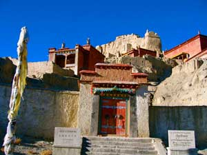 The entrance to Tholing Monastery