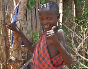 A Maasai child