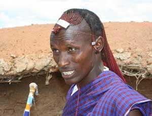 A Maasai herdsman in Kenya