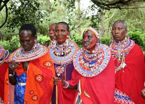 Maasai dancers in Kenya