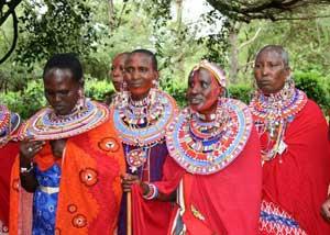 Maasai dancers in Kenya