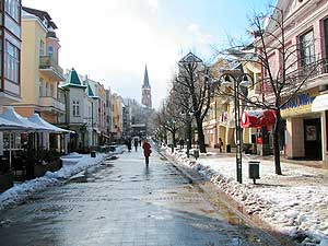 Monte Cassino Street – the cultural and entertainment heart of Sopot surrounded by fairy tale-like baroque houses