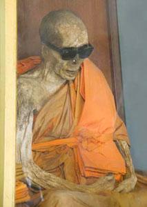 The mummified remains of Loung Pordaeng