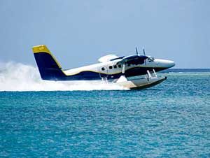 Seaplanes are a popular way to travel among the islands. iStockphoto/FlemmingMahler