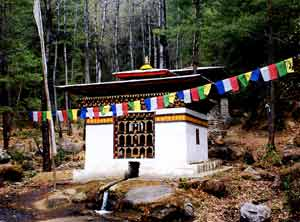 A chorten on the way to Taktshang Goemba