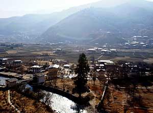The Paro Valley in Bhutan