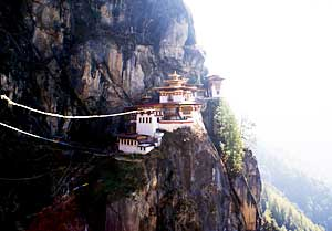The Tiger's Nest was built on a sheer cliff.