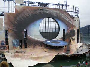 The stage for the Bregenz Festival in Austria