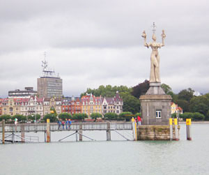 The statue of Imperia in the harbor in Konstanz, Germany - photos by Kent St. John