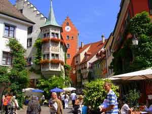 A street scene in Meersburg, Germany