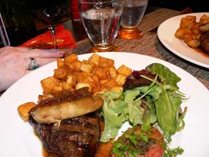 Steak with foie gras