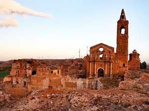 The ruins of Belchite, where they say you can hear the voices of the dead