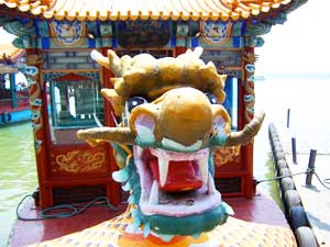 A dragon boat at the Summer Palace