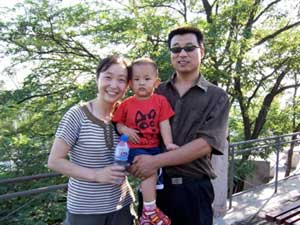 A Chinese family at the Great Wall