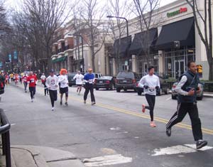 Runners in downtown Greenville, South Carolina - photos by Robert J. Nebel