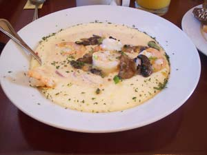 The Shrimp and Grits at Mary's Cottage in Greenville is a scrumptious treat for brunch.