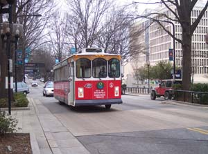 Greenville has made its downtown easy to get around with its own trolley system.