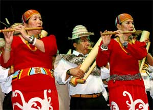 Kelapan Kelabit Bamboo Band is from Malaysia