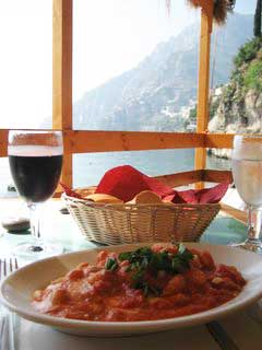 Ada's gnocchi at her Arienzo Beach snack bar