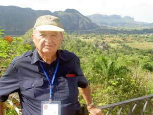 The author at an observation point