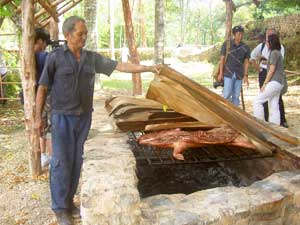 A Cuban style barbeque