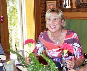 Cynthia Schneider, owner and chef at the Grapevine Cafe and Gallery