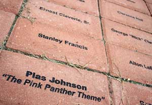 Plas Johnson, the saxophonist on the original Pink Panther theme song, was a native of Donaldson