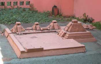 A model of the ruins at San Andres