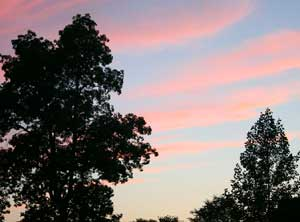 Sunset at Roseland Cottage.