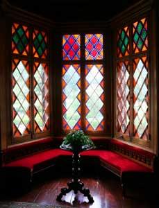 Inside Roseland Cottage.