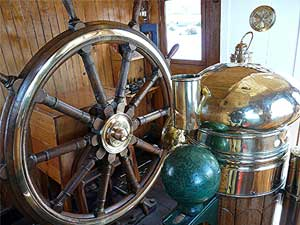 The wheelhouse of the S.S. Yavari