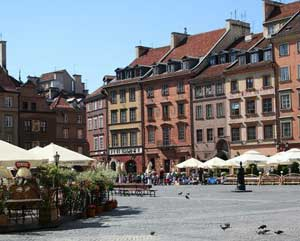 The Old Town Square, Warsaw Poland.