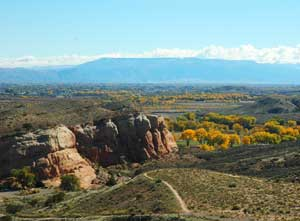 Sweeping views of the Grand Valley can be seen from all over Colorado National Monument and BLM trails.