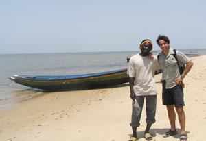 The author with a local on Karabane Island