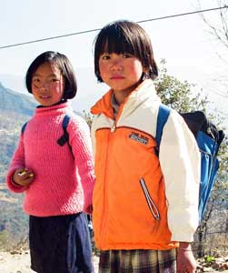 Children on their way to school