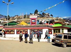 The main street at Tawang