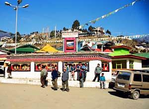 The main street at Tawang