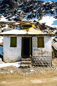 A Shiva temple at 15,000 feet beyond Tawang