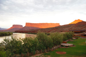 The view from Red Cliffs Lodge outside of Moab