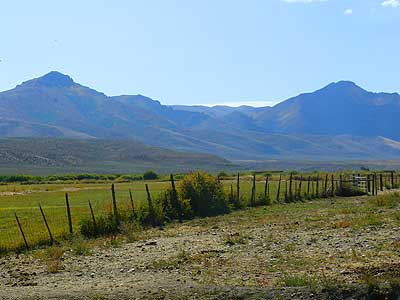 View of the Ruby Mountains from the 71 Ranch in Elko County, Nevada
