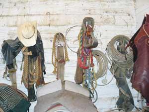 The tack room at the 71 Ranch