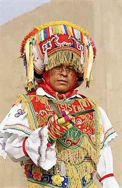 Peruvian in native costume.