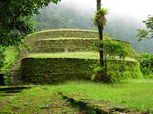 View of one of the main terraces at The Lost City