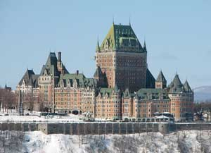 The Fairmont Le Chateau FrontenaThe Fairmont Le Chateau Frontenac is Quebec City's most famous landmark. Photo: Wikipedia